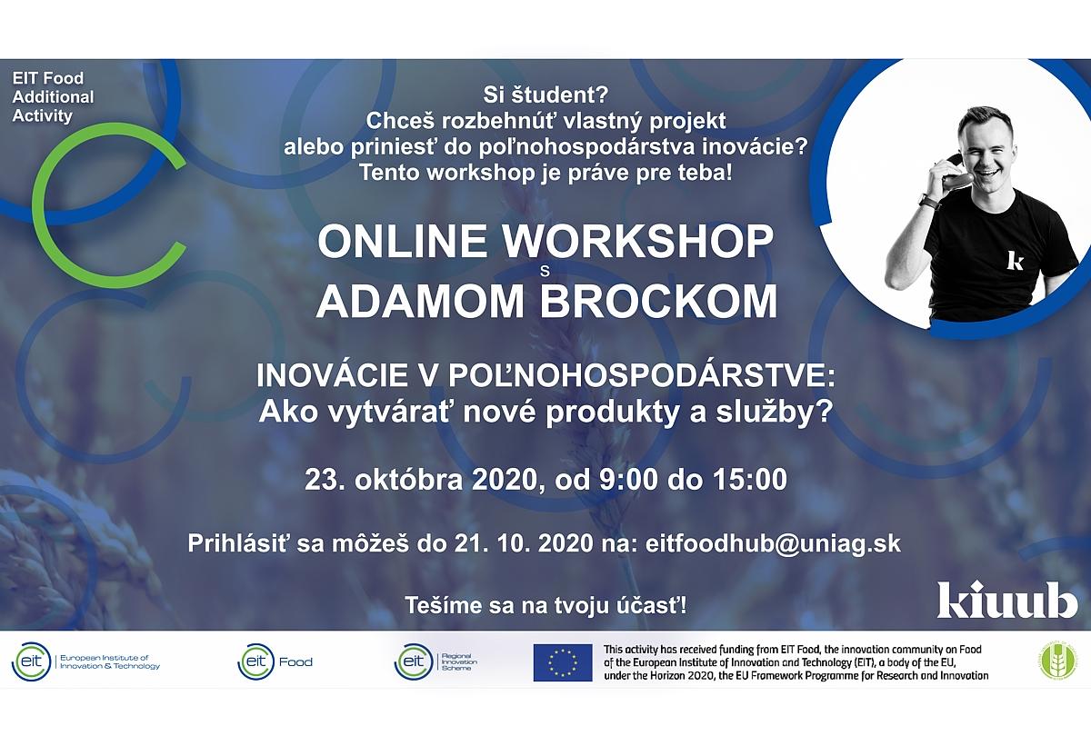 Inovácie v poľnohospodárstve. Ako vytvárať nové produkty a služby - online workshop