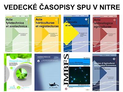 vedecke casopisy SPU v Nitre